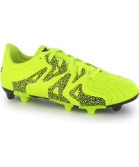 Adidas X 15.3 Leather FG Childrens Football Boots, solar yellow