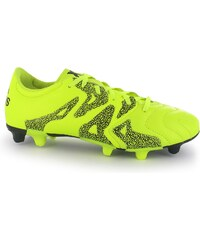 Adidas X 15.3 Leather FG Mens Football Boots, solar yellow