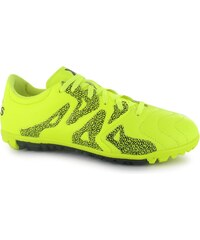 Adidas X 15.3 Leather Mens Astro Turf Trainers, solar yellow