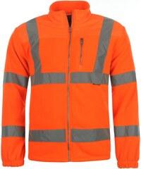Dunlop Hi Vis Fleece Jacket Mens, orange