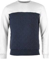 Fabric Quilted Yoke Sweater, greyviolet/navy