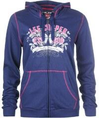 Lee Cooper Classic Zip Top Sweater Ladies, navy