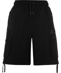 Lonsdale Two Stripe Cargo Shorts Mens, black/charcoal