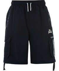 Lonsdale Two Stripe Cargo Shorts Mens, navy/white
