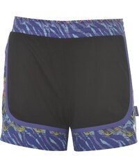 Lonsdale Woven Shorts Junior Girls, black/purpaztec