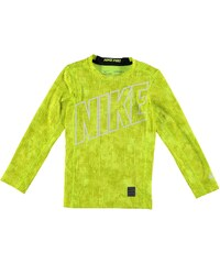 Nike HyperWarm AOP Crew Baselayer Top Junior, volt/black