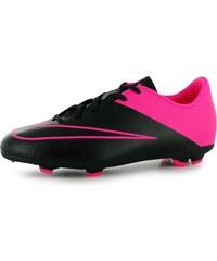 Nike Mercurial Victory FG Junior Football Boots, black/pink