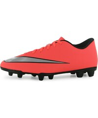 Nike Mercurial Vortex II FG Mens Football Boots, mango/silver