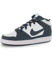 Nike Priority Mid Top Junior Trainers, white/navy