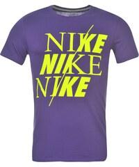 Nike QTT Split T Shirt Mens, purple