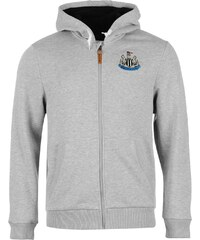 NUFC United Zip Hoody Mens, grey marl
