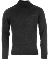 Pierre Cardin Roll Neck Knitted Jumper, charcoal marl