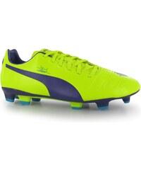 Puma evoPower 3 FG Mens Football Boots, yellow/purple