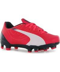 Puma EvoSpd 5.3 Firm Ground Football Boots Childrens, red/white