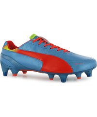 Puma L Evo Speed Mens Soft Ground Football Boots, blue/peach