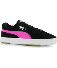 Puma Suede S Trainers Junior Girls, black/pink