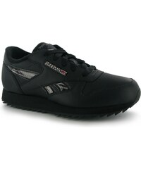 Reebok Classic Etched Junior Trainers, black/silver