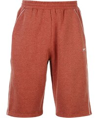 Slazenger Fleece Shorts Mens, burgundy