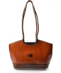 mahagonová světlejší hnědá luxusní kabelka Luisien Bellasi 11302