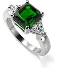 Eppi Zásnubní prsten se smaragdem a diamanty Nima