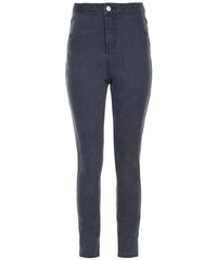 New Look Teenager – Dunkelgraue superenge Skinny-Jeans mit hohem Bund