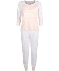 """New Look Teenager – Pyjama-Set mit der Aufschrift """"Squad Goals"""" in Altrosa"""