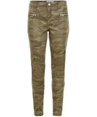 New Look Teenager – Khakifarbene Skinny-Jeans mit Camouflage-Muster
