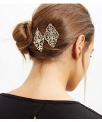 New Look Goldfarbene filigrane Haarspangen