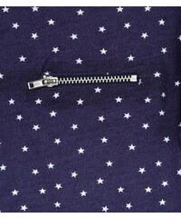 New Look Girls – Blaues T-Shirt mit Sternenmuster und Reißverschlusstasche