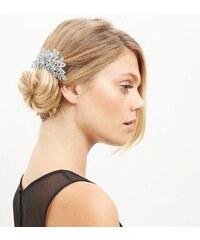 New Look Übergroße Haarklammer mit Schmucksteinen und Blumenmotiv