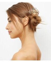 New Look Goldfarbene Haarspange mit Schmuckbesatz
