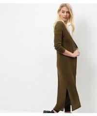 New Look Tall – Khakifarbene Longline-Strickjacke