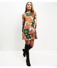 New Look Mela – Orangefarbenes Etuikleid mit Blumenmuster