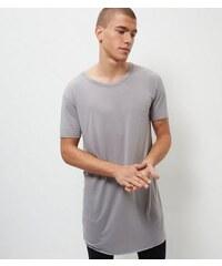 New Look Graues, lang geschnittenes T-Shirt