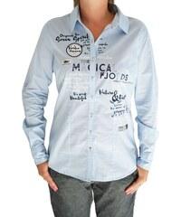 Dámská košile Soccx SPI-1608-5441 světle modrá