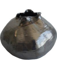 StarDeco Keramická váza - černá