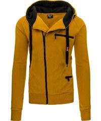 Coolbuddy Pánská mikina s kapucí a asymetrickým zipem 9098 Velikost: L