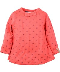 Dirkje Dívčí tričko s puntíky a mašlí - oranžové