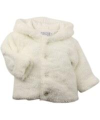 Dirkje Dívčí chlupatý kabátek - bílý