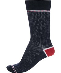 Tmavě modré vzorované ponožky s červenými detaily Jack & Jones Digger
