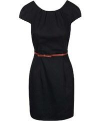 Černé šaty s páskem Vero Moda Kaya