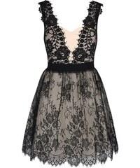 Černo-krémové krajkované šaty Little Mistress