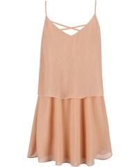 Meruňkové šaty na ramínka VILA Sora