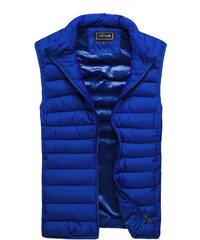 Fantastická moderní modrá vesta J. STYLE 3116