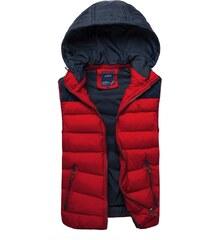 Krásná červená prošívaná vesta NATURE 3905