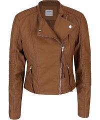 Světle hnědá koženková bunda Vero Moda Marina