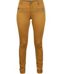 Hořčicové džíny se zipy VILA Commit