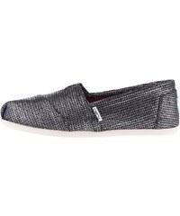 Černé dámské lesklé loafers Toms