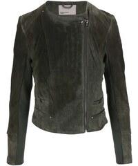 Khaki semišová bunda na zip Vero Moda Forever