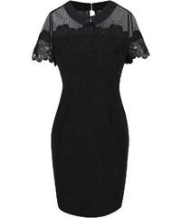 Černé šaty s ozdobnou výšivkou Dorothy Perkins Petite